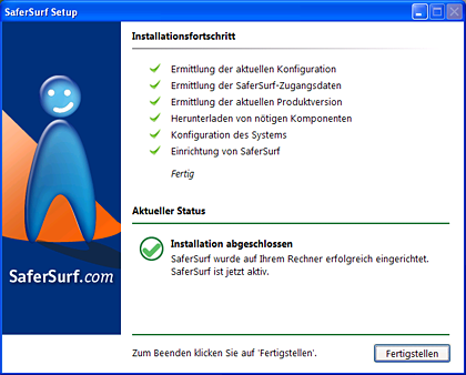 SaferSurf Installation is completed